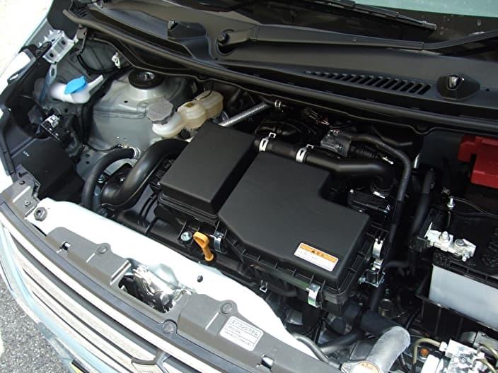 車のエンジンルーム バッテリー