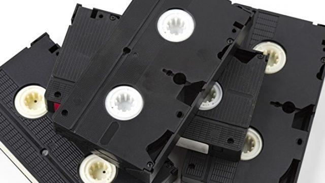 処分したいビデオテープ