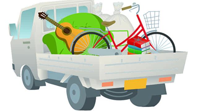 不用品回収業者のトラック
